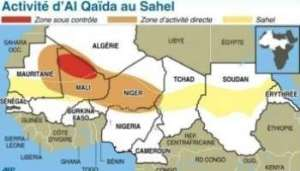 La zone d'influence d'Al Qaïda au Sahel (carte ©AFP 2010)