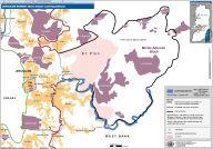 Le projet E1, en rose au centre de la carte (source OCHA)