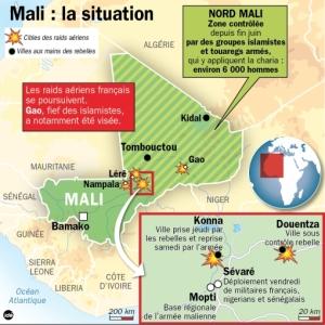 La situation dimanche dans le Nord du Mali.